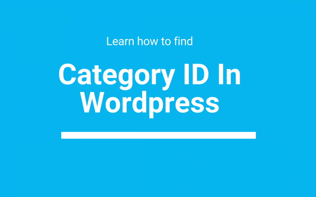 How To Get Category ID In WordPress